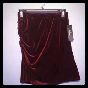 NWT Lulu's Velvet Mini Skirt